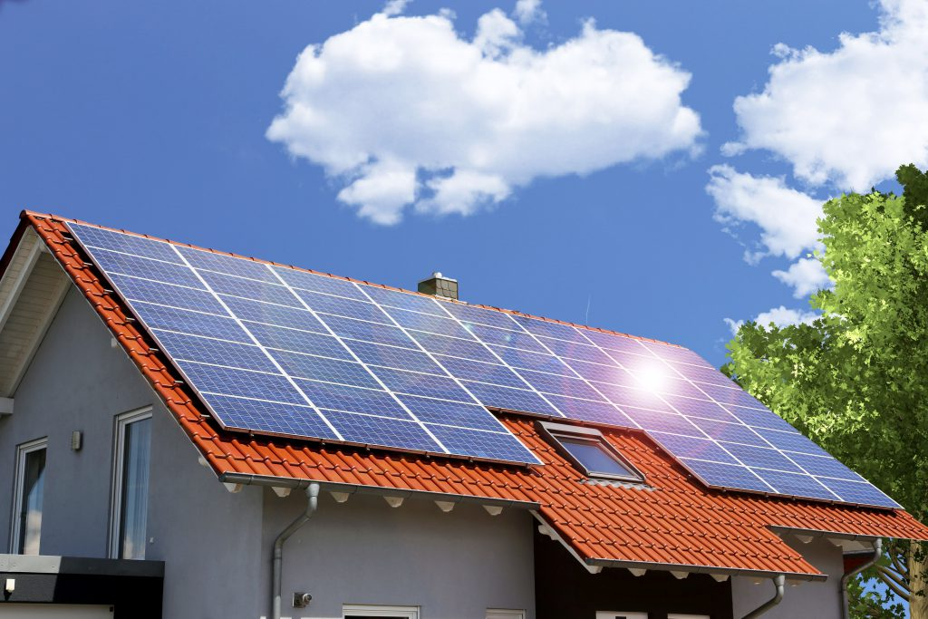 Solar panels on a house. No, they don't increase the value of your home!