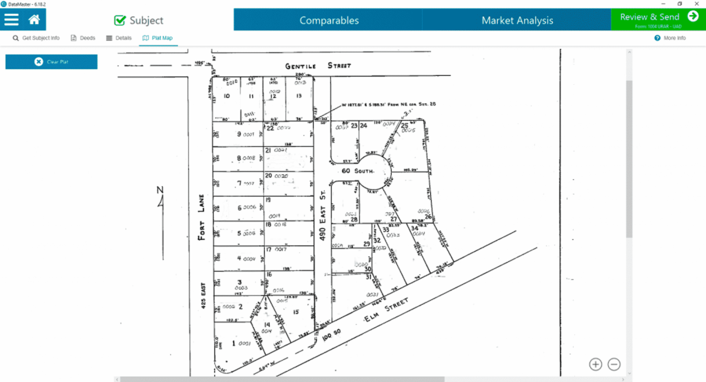 DataMaster provides Plat Maps as a service to you, the appraiser!