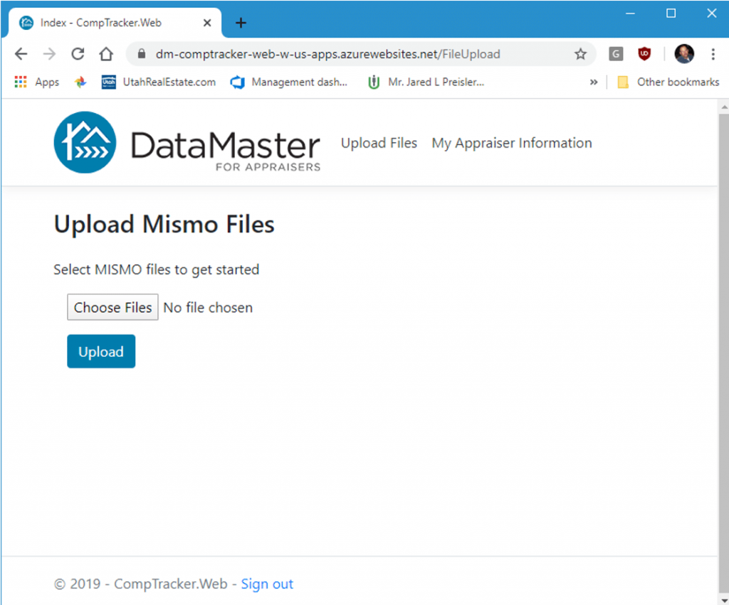 Uploading MISMO files into CompTracker