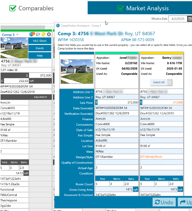 CompTracker helps you save time with your prior property data or with peer data
